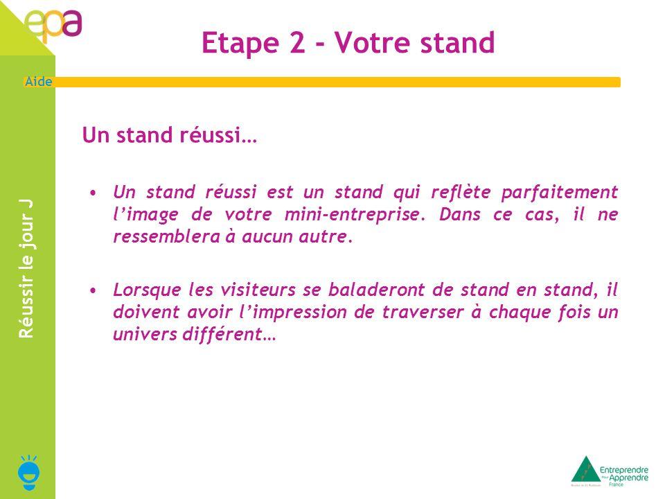 Etape 2 - Votre stand Un stand réussi…