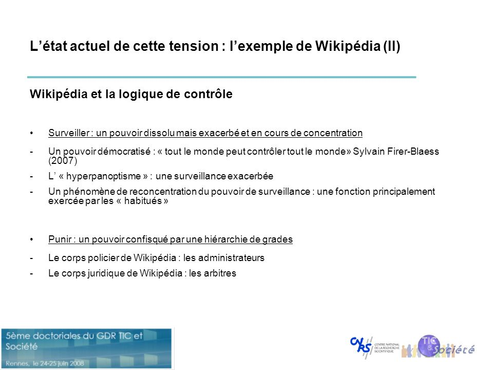 L'état actuel de cette tension : l'exemple de Wikipédia (II)