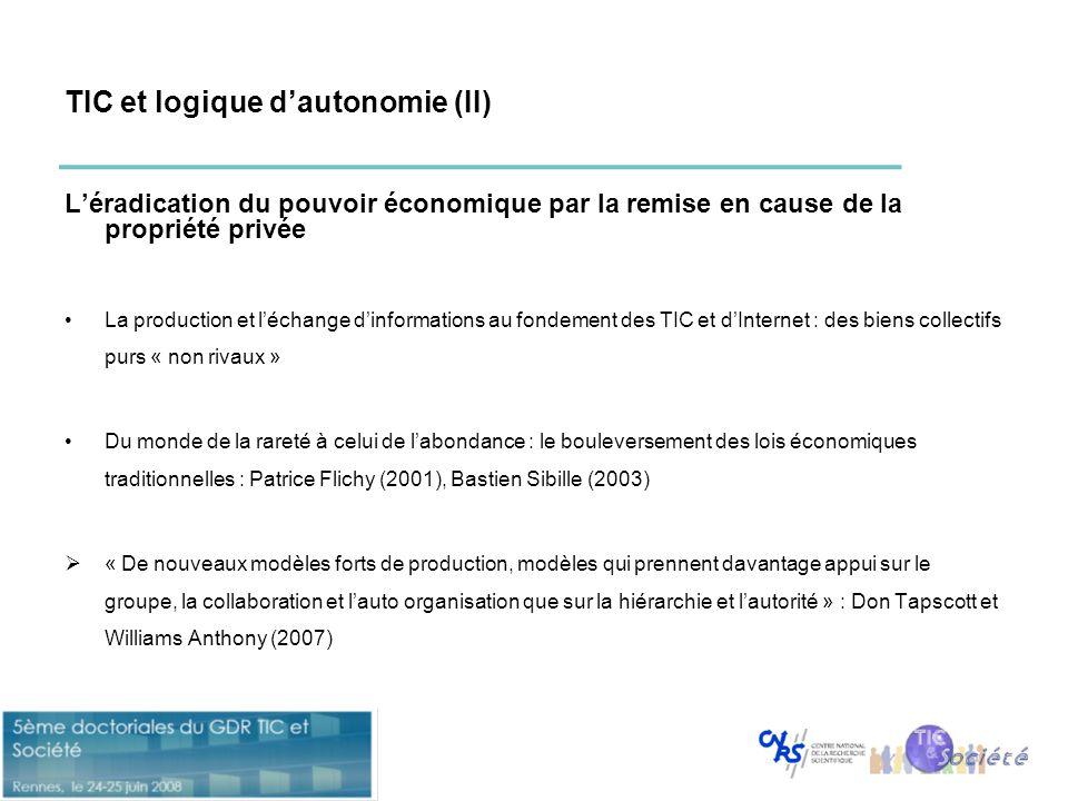 TIC et logique d'autonomie (II)