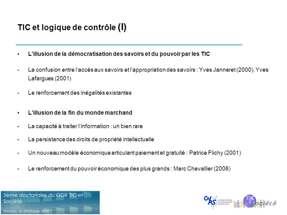 TIC et logique de contrôle (I)