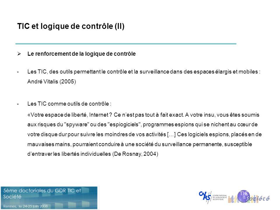 TIC et logique de contrôle (II)