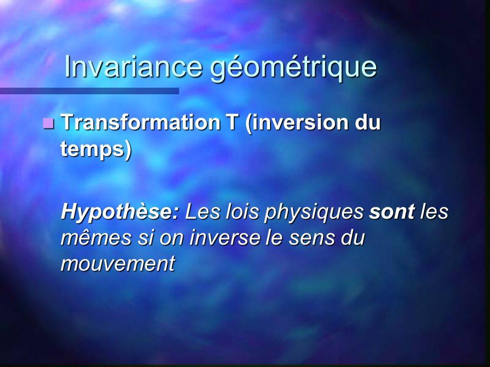 Invariance géométrique