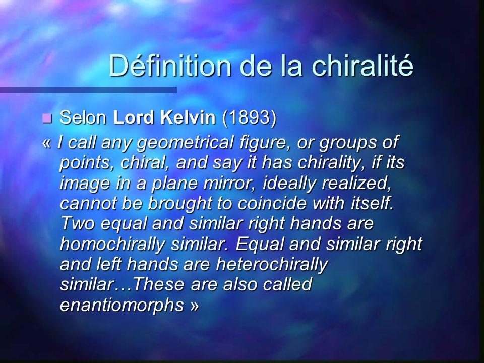 Définition de la chiralité