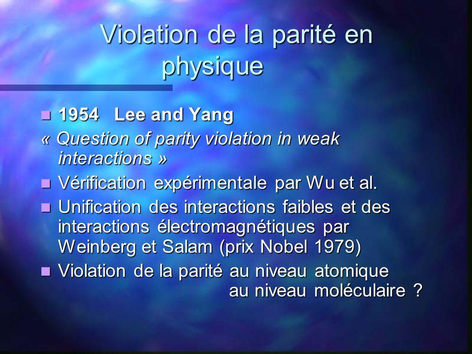 Violation de la parité en physique