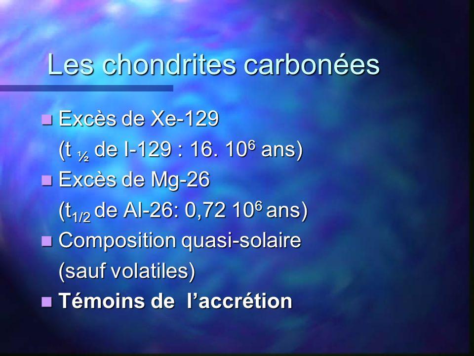 Les chondrites carbonées