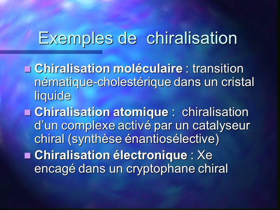 Exemples de chiralisation