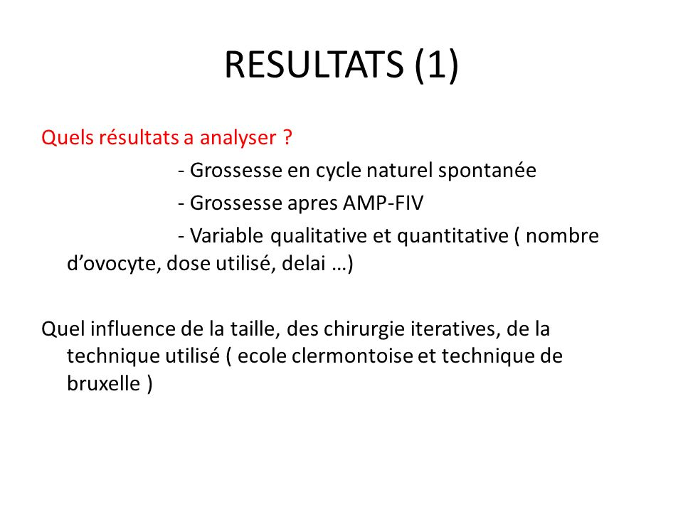 RESULTATS (1)