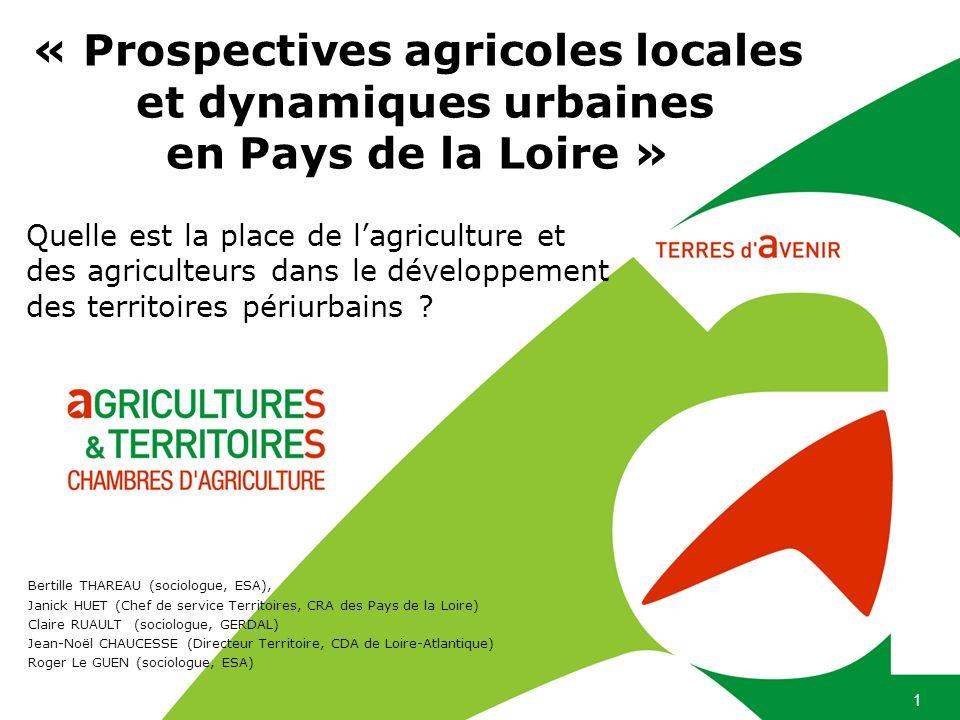 « Prospectives agricoles locales et dynamiques urbaines en Pays de la Loire »