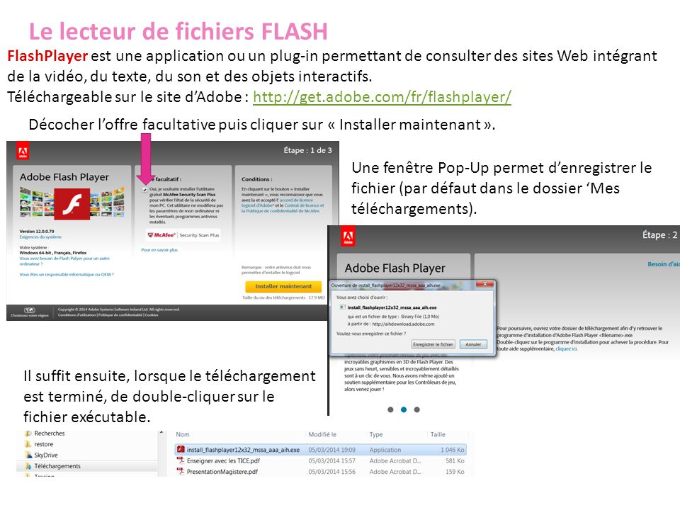 Le lecteur de fichiers FLASH