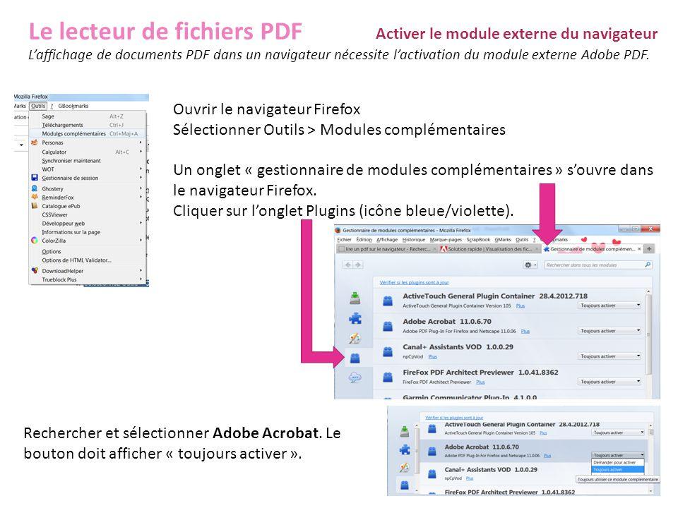 Le lecteur de fichiers PDF