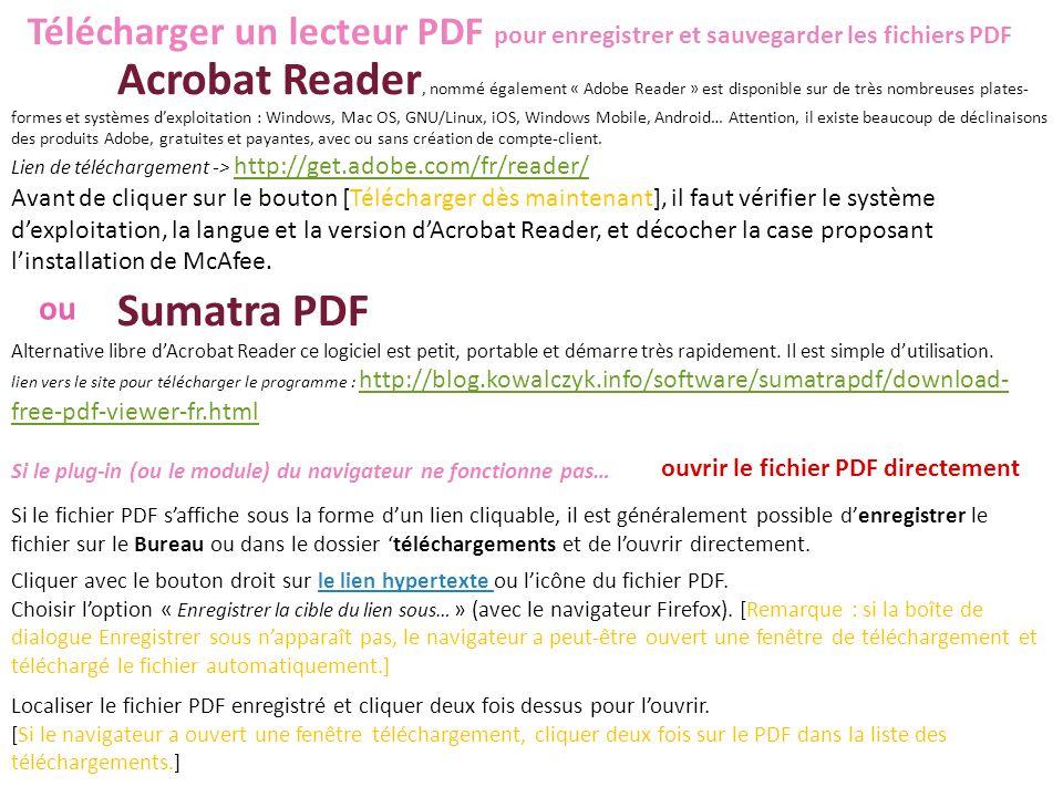 Télécharger un lecteur PDF