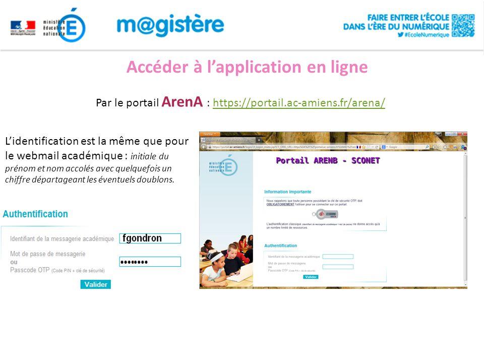 Accéder à l'application en ligne
