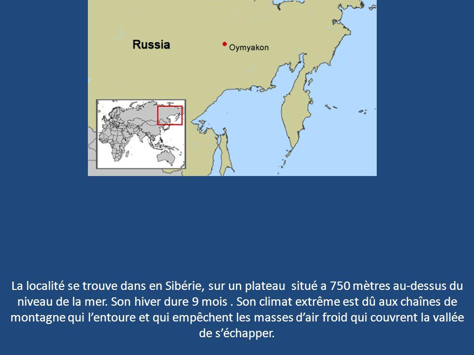 La localité se trouve dans en Sibérie, sur un plateau situé a 750 mètres au-dessus du niveau de la mer.
