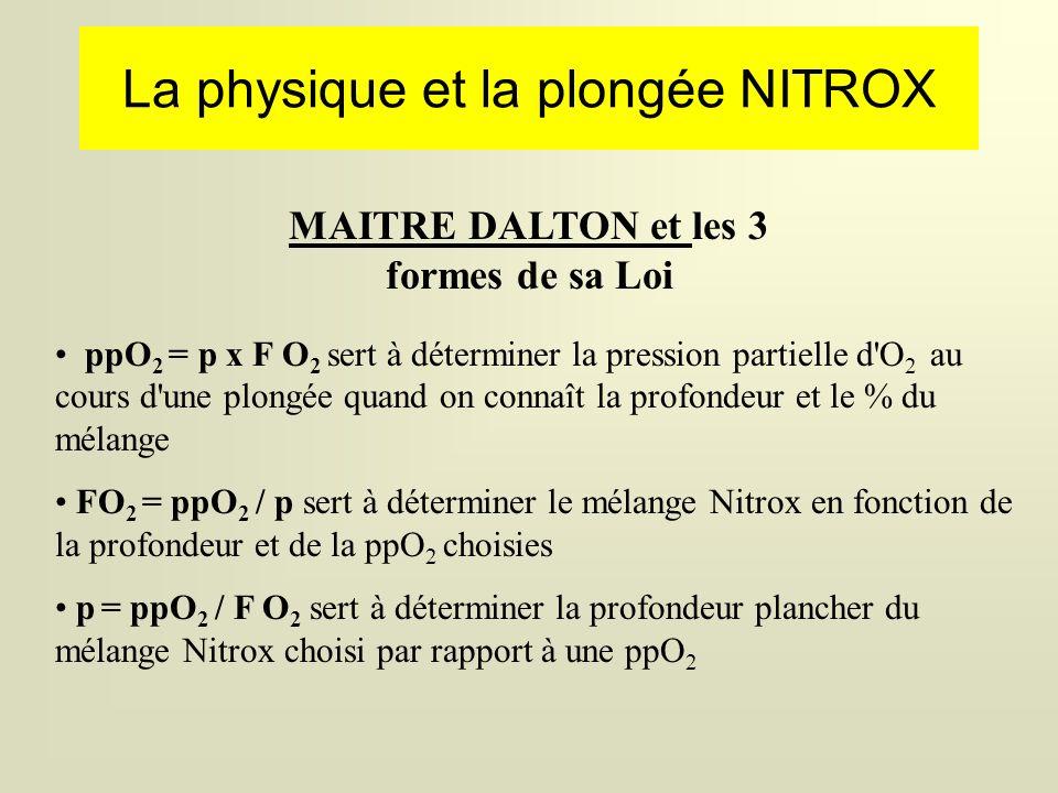La physique et la plongée NITROX