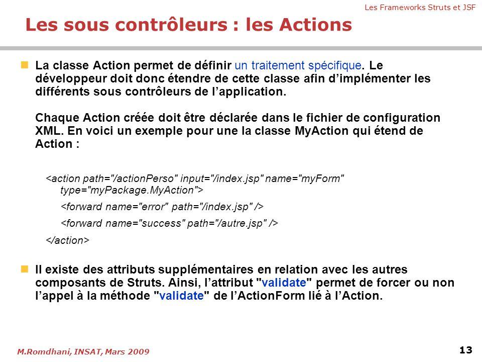 Les sous contrôleurs : les Actions