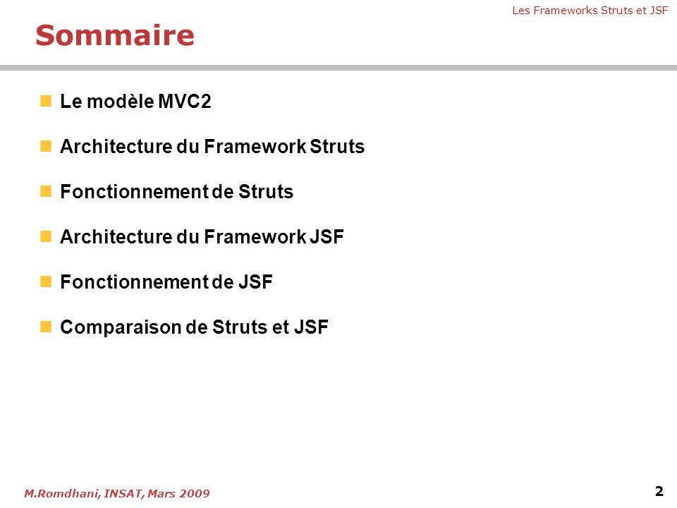Chapitre 4 - Les frameworks Struts et JSF