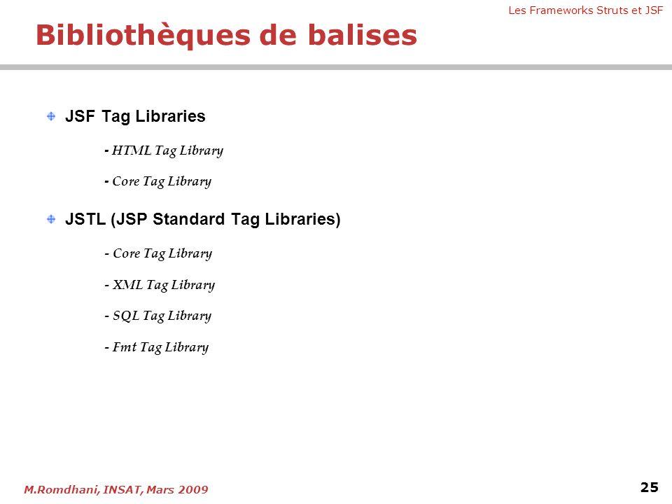 Bibliothèques de balises