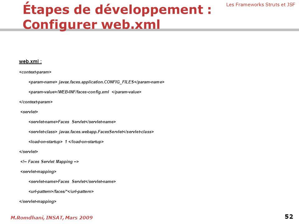Étapes de développement : Configurer web.xml