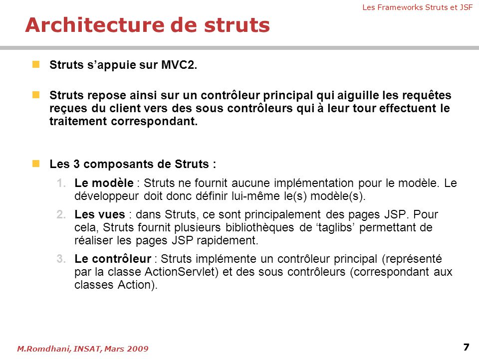 Architecture de struts