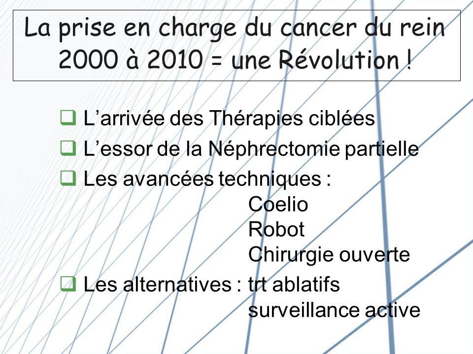 La prise en charge du cancer du rein 2000 à 2010 = une Révolution !