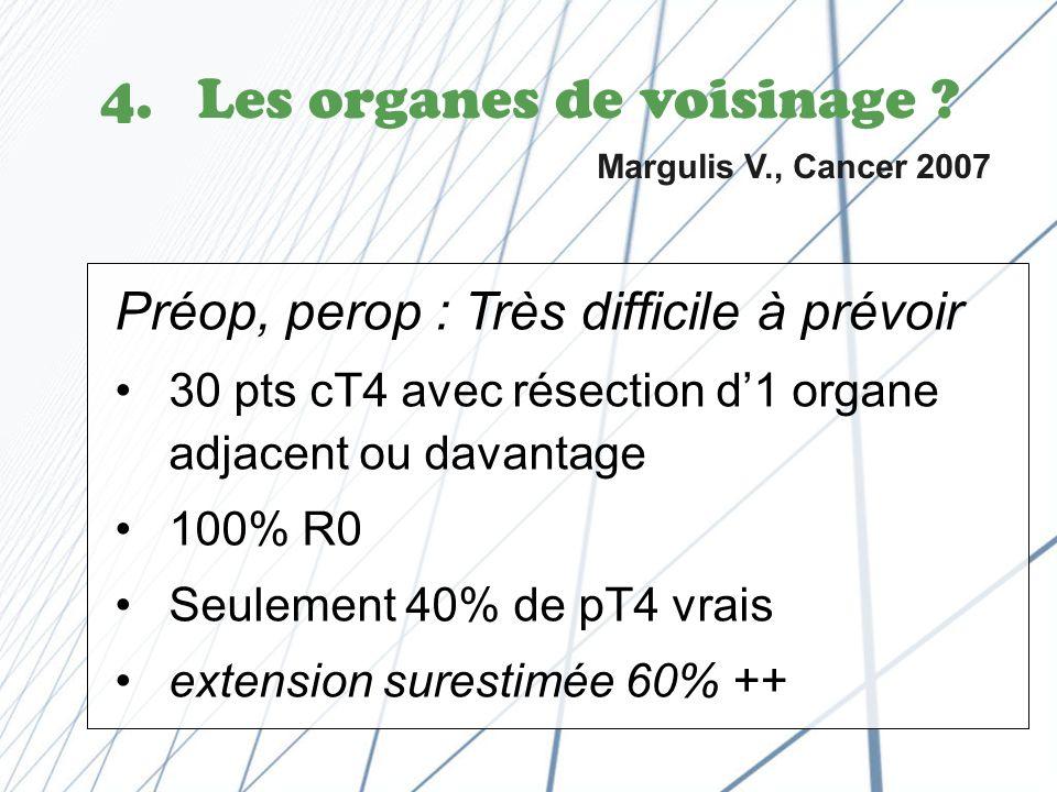 Les organes de voisinage Margulis V., Cancer 2007