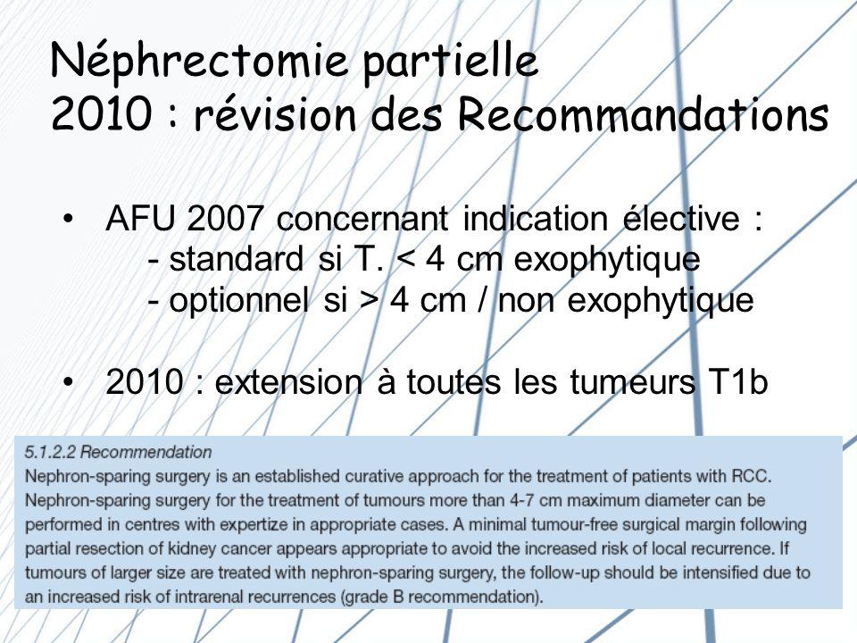 Néphrectomie partielle 2010 : révision des Recommandations