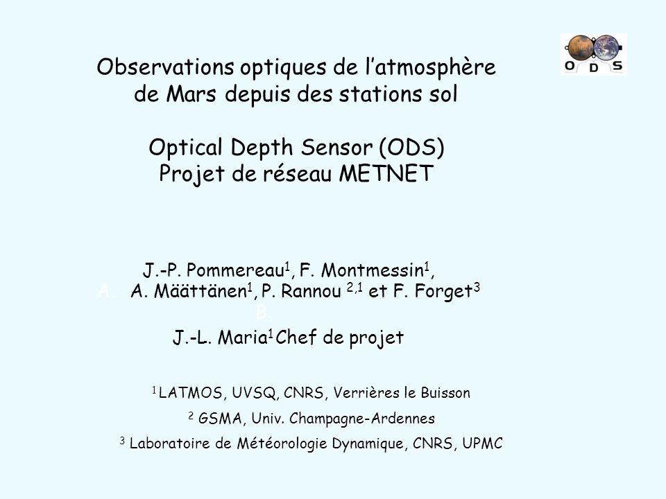 Observations optiques de l'atmosphère de Mars depuis des stations sol