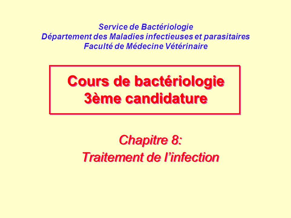 Chapitre 8: Traitement de l'infection