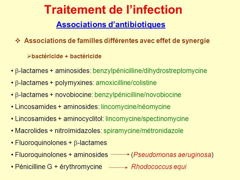 Traitement de l'infection