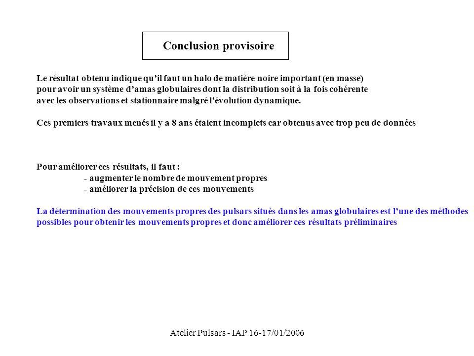 Atelier Pulsars - IAP 16-17/01/2006
