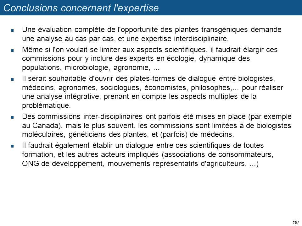 Conclusions concernant l expertise