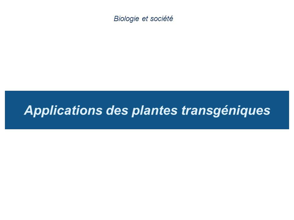 Applications des plantes transgéniques