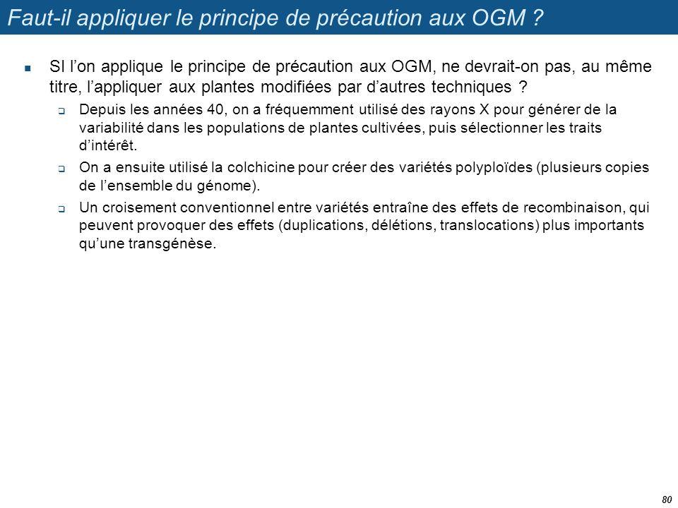 Faut-il appliquer le principe de précaution aux OGM