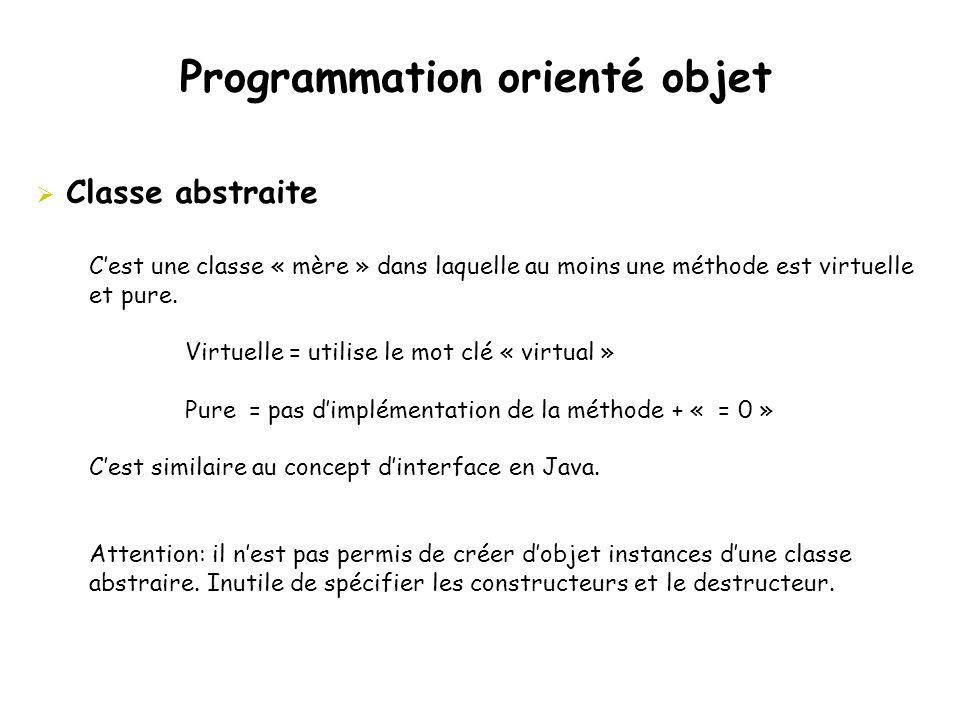 Programmation orienté objet
