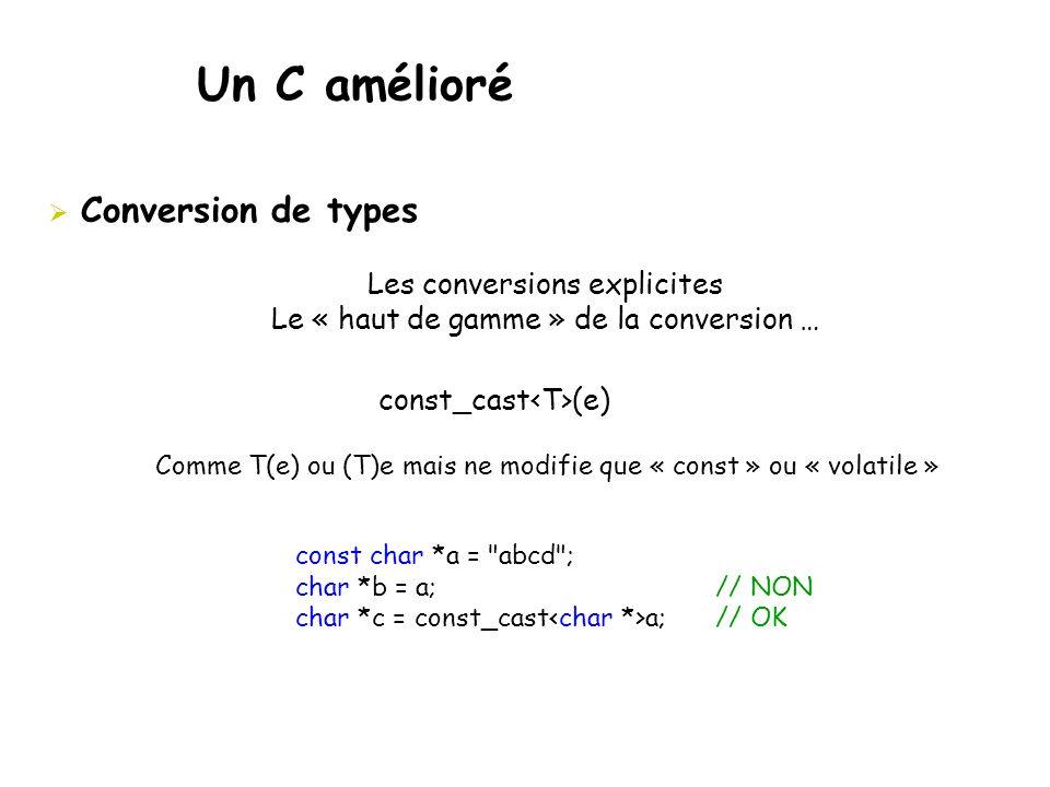 Un C amélioré Conversion de types