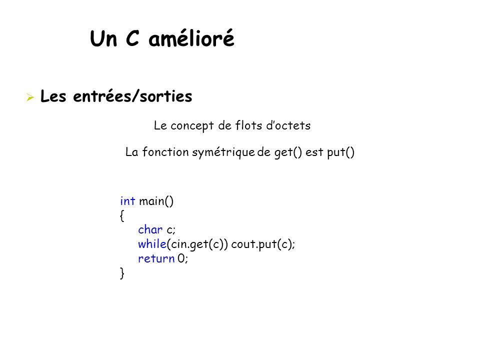 La fonction symétrique de get() est put()
