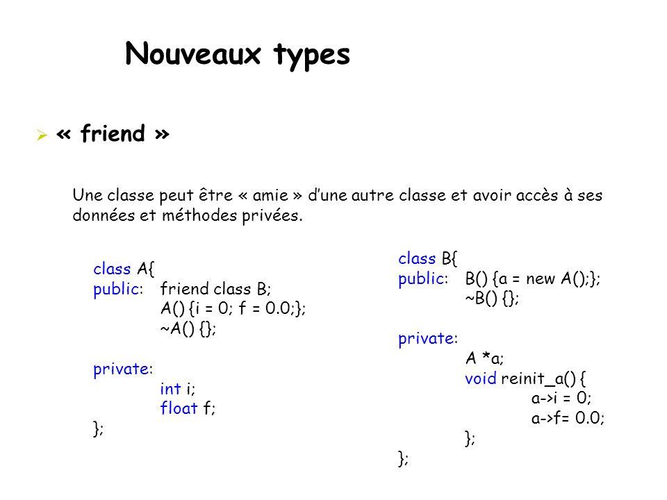 Nouveaux types « friend »