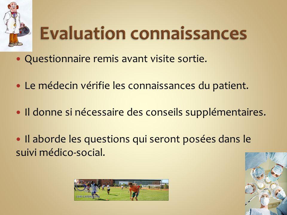 Evaluation connaissances