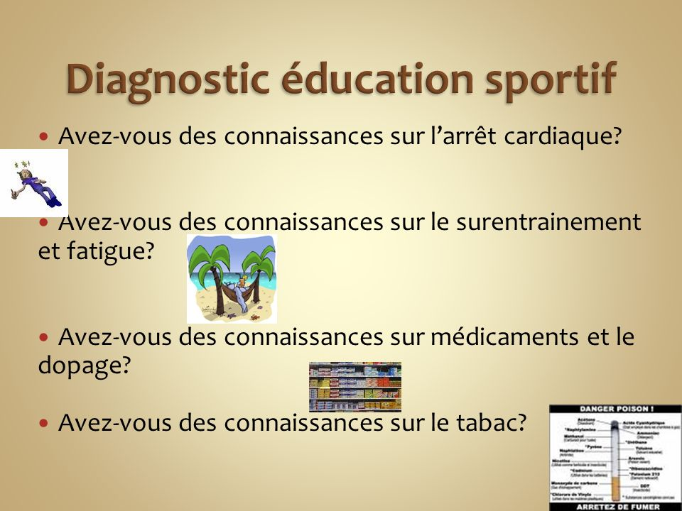 Diagnostic éducation sportif