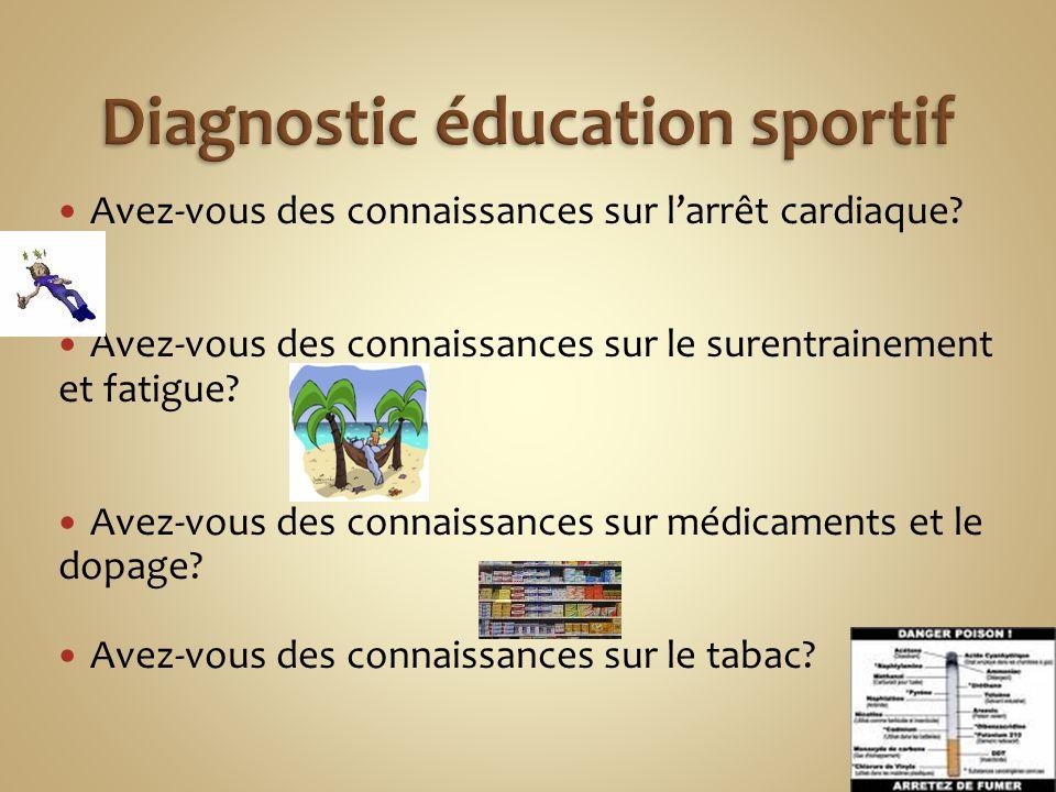 Diagnostic éducation sportif