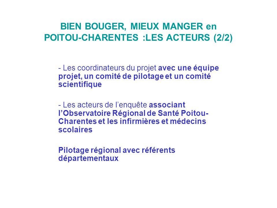 BIEN BOUGER, MIEUX MANGER en POITOU-CHARENTES :LES ACTEURS (2/2)