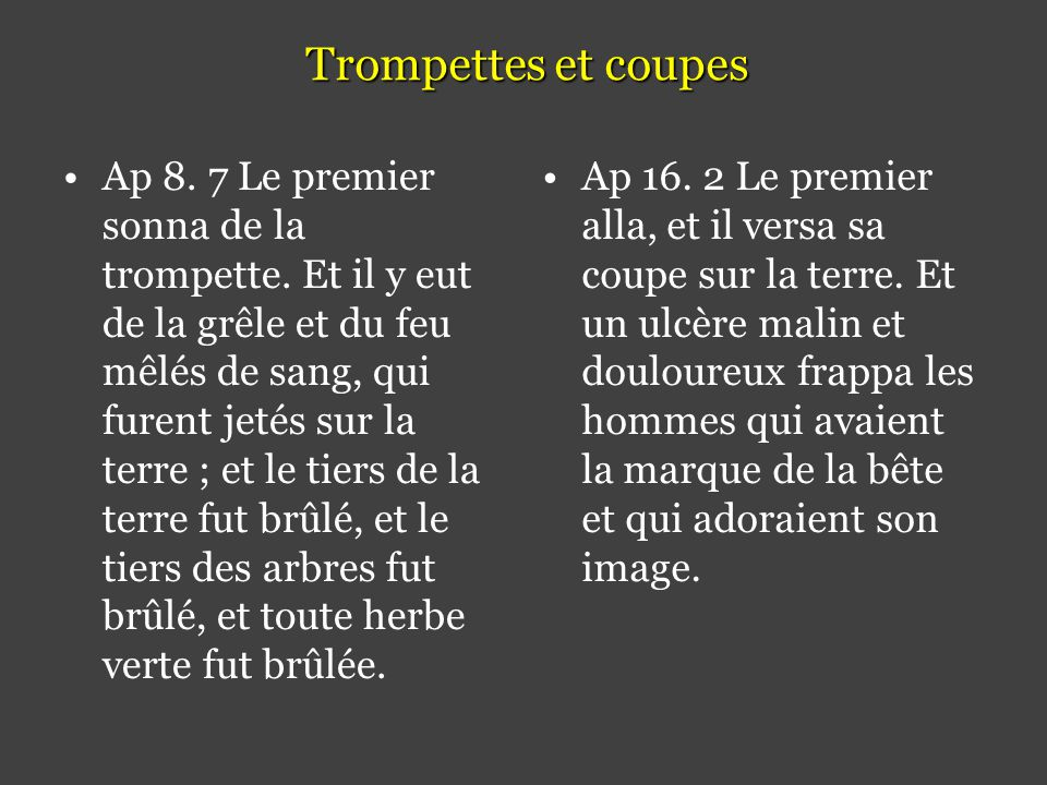 Trompettes et coupes