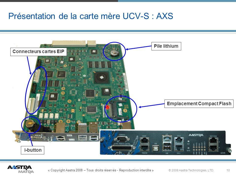 Présentation de la carte mère UCV-S : AXS