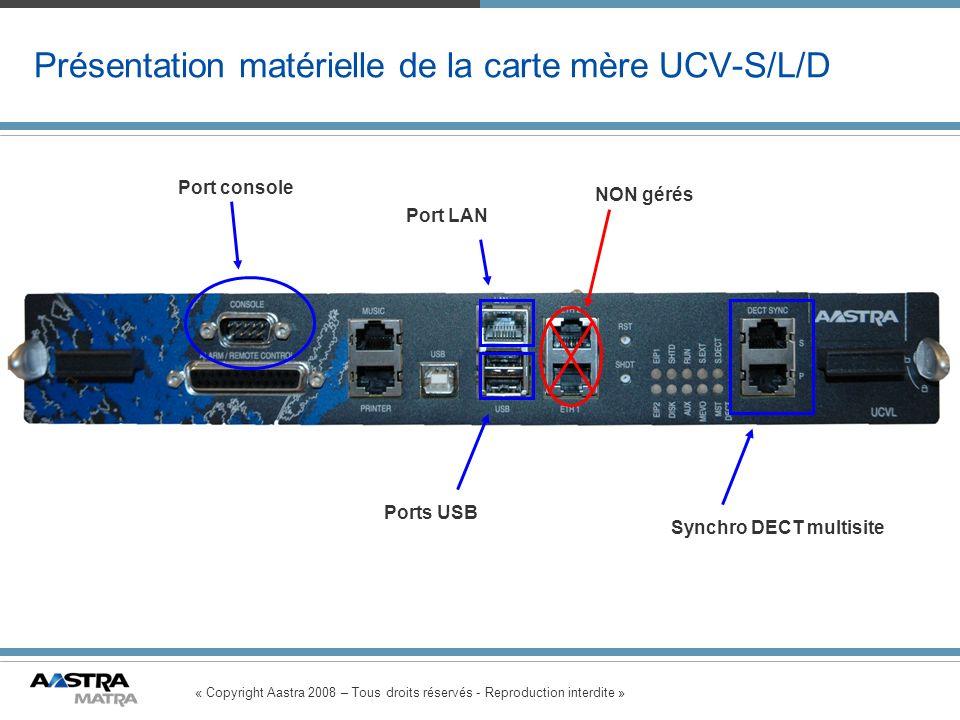 Présentation matérielle de la carte mère UCV-S/L/D