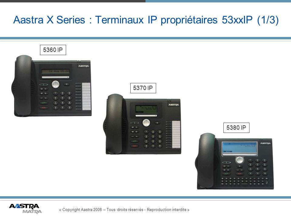 Aastra X Series : Terminaux IP propriétaires 53xxIP (1/3)