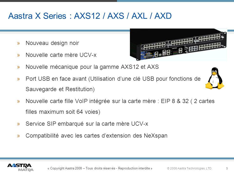 Aastra X Series : AXS12 / AXS / AXL / AXD