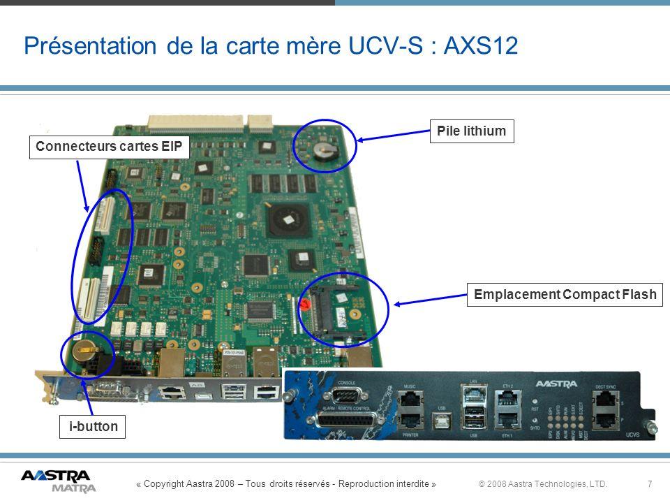 Présentation de la carte mère UCV-S : AXS12