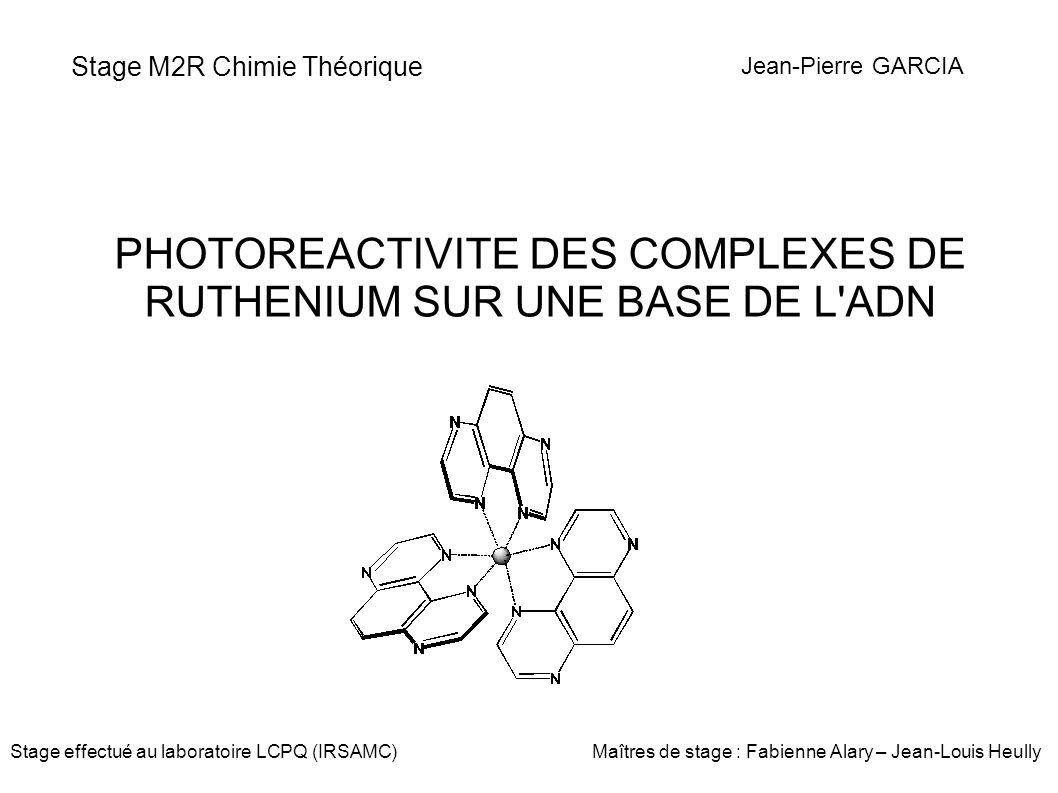 Stage M2R Chimie Théorique