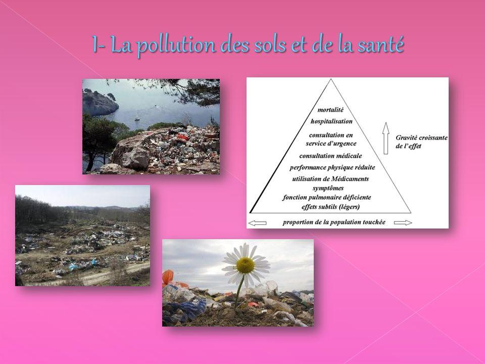 I- La pollution des sols et de la santé