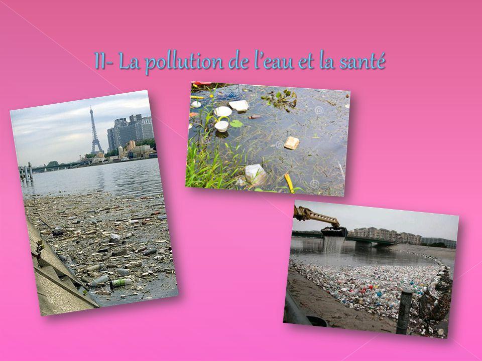 II- La pollution de l'eau et la santé